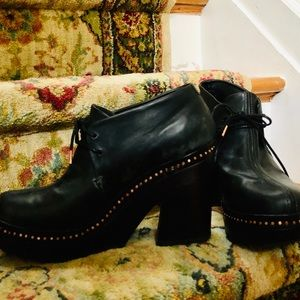Rag & Bone black ankle shoe boots